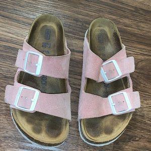 Used Pink Suede Birkenstock's !